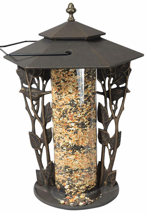 Chickadee Silhouette Bird Feeder