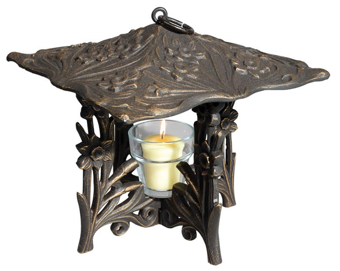 Whitehall Products Daffodil Twilight Lantern - Oil Rubbed Bronze Finish