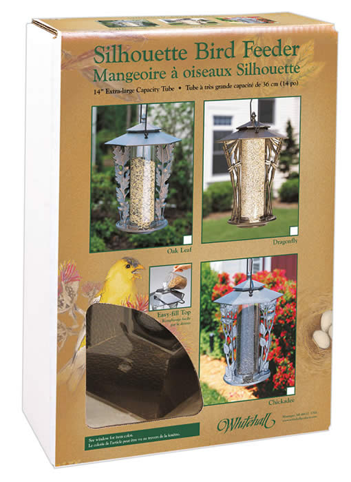 Silhouette Bird Feeder Box